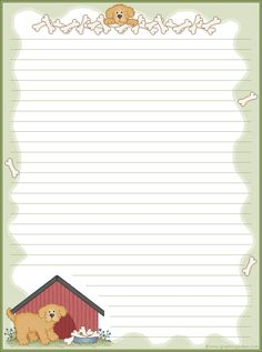 Darling dog stationery Free ~ http://www.graphicgarden.com/files17/graphics/print/sttnery/animals/dogst1el.gif