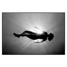 Photography Underwater Backlit Figure Black & Whiter Silver Gelatin Fine Art Print 8'x10'/ 20x25 cm Christmas and Holiday Sale