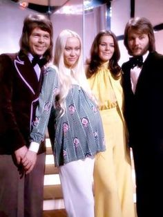 ABBA was a Swedish pop group formed in Stockholm in comprising Agnetha Fältskog, Björn Ulvaeus, Benny Andersson, and Anni-Frid Lyngstad. Abba Mania, Band On The Run, Musica Pop, John Denver, Music Like, Pop Bands, Music Icon, Popular Music, Belle Photo