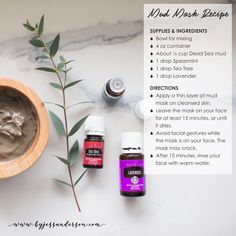DIY skincare using essential oils Yl Essential Oils, Young Living Essential Oils, Oils For Life, Dead Sea Mud, The Perfect Girl, Best Face Mask, Face Masks, Young Living Oils, Oil Uses