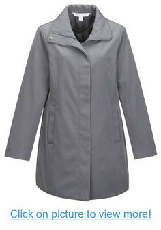 Womens polyester woven water resistent trench coat lined with polyester, METALLIC GRAY Large Business Outfits Women, Business Clothes, Best Sellers, Parka, Chef Jackets, Raincoat, Water, Mountain, Shirts