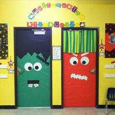 Classroom Monster Doors - Ahhh!!!------one for me and one for you, Lydia!!