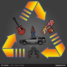 Through Time T-Shirt | $10 Back to the Future tee from RIPT  today only!