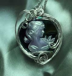 30mm Sterling Wire Wrapped Pendant by deans on Etsy, $68.00