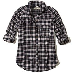 Hollister Oversized Flannel Shirt ($40) ❤ liked on Polyvore featuring tops, black plaid, tartan flannel shirt, tartan shirt, shirt top, tartan plaid shirt and plaid shirts