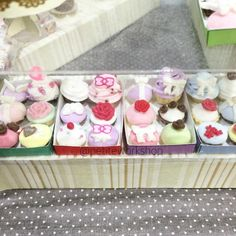 Here's another batch of cupcakes it's all made of clay