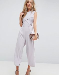 70bf66f82d8 ASOS Jumpsuit with Wrap Front and Tie Back at asos.com