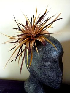 Autum gold fascinator