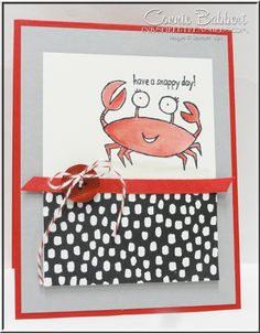 You're Sublime, crab, snappy, Stampin' Up!, #stampinup, created by Connie Babbert, www.inkspiredtreasures.com  Loving the new catalog!