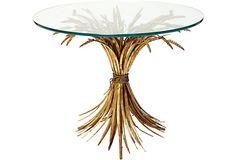 Vintage Italian wheat sheath table.