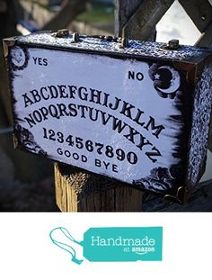 Large Black and White Damask Ouija Spirit Board Occult Alter Trinket Stash Jewelry Purse Box With Handle from The Bees Knees Crafts https://www.amazon.com/dp/B01DJDHP7A/ref=hnd_sw_r_pi_dp_Ut6txbRBX07D8 #handmadeatamazon  in grooming area for my hair rollers barrettes and bobby pins and one for ribbon sets I've already made and one for fun  three each