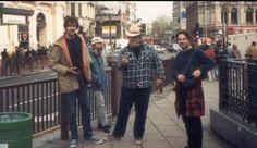 Nirvana & TAD. Heavier than Heaven Eropean tour, 1989. Photo by Bruce Pavitt.