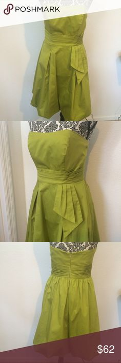 Stunning Alfred Angelo Cocktail dress Beautiful strapless dress in color called green apple. Beautifully flatters your shape. In great condition.  Size 4. Alfred Angelo Dresses Strapless