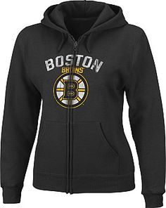 Majestic Boston Bruins Ladies Built Tough Full Zip Hoodie - Shop.Canada.NHL.com $45.99