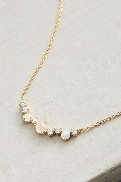 Slide View: 2: Seaside Ombre Necklace | Elegant Jewelry | Gold Necklace | Gemstones
