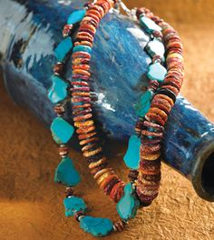 Turquoise & Spiny Oyster Necklaces