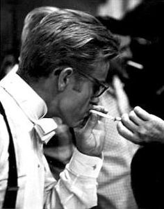James Dean photographed by Sanford Roth on the set of Giant, 1955.