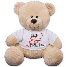 Our Personalized Love Teddy bears are great gifts for any romantic occasion. Celebrate Valentines Day or a romantic weekend with our Personalized Plush I Love Bear. Show your Love & Affection with our Personalized I Love You Teddy Bear Today. Valentines Day Teddy Bear, Christmas Teddy Bear, Personalised Teddy Bears, Personalized Baby Gifts, Graduation Teddy Bear, Graduation Gifts, Teddy Bear Online, Animal Delivery, Funny Bears