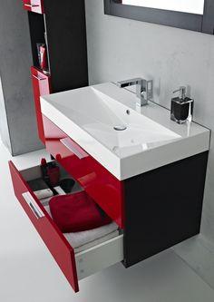 Furniture - Home Furniture Online - Home Furnishings Cloakroom Vanity Unit, Basin Vanity Unit, Vanity Units, Bathroom Red, Bathroom Storage, Small Bathroom, Bathroom Ideas, Mirror Bathroom, Washbasin Design