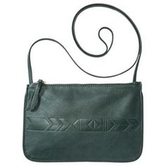 Arrow Embossed Crossbody Handbag - Green