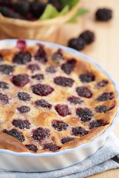 Low-Carb Blackberry Clafoutis / @DJ Foodie / DJFoodie.com. Looks really good. Blackberries are fabulous! Visit us at https://www.facebook.com/LowCarbingAmongFriends or for the best of the best! https://www.facebook.com/LowCarbHitParade