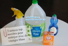 Voici 3 utilisations secrètes du vinaigre blanc pour vous aider à nettoyer votre maison SANS produit chimiques.  Découvrez l'astuce ici : http://www.comment-economiser.fr/3-astuces-top-secretes-pour-nettoyer-avec-du-vinaigre-blanc.html?utm_content=buffer648e2&utm_medium=social&utm_source=pinterest.com&utm_campaign=buffer