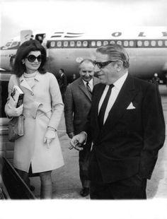 Jacqueline Kennedy Onassis with her husband Aristotle Onassis
