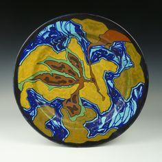 Zuid Holland - design Breetvelt. A pottery wall plate ca. 1920