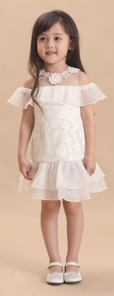 Moda infantil baby dresses 16 new ideas Dresses Kids Girl, Little Girl Outfits, Little Girl Dresses, Cute Dresses, Kids Outfits, Flower Girl Dresses, Baby Dresses, Dress Anak, Kids Gown