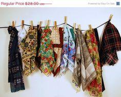 SALE Vintage Four Season Scarves by CheekyVintageCloset on Etsy, $22.40