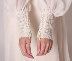 Vintage 70s Priscilla of Boston Wedding Dress with by VintageSpins