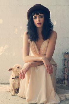 krysten ritter....I want a hat like this