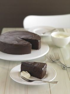 250g butter, cubed 200g dark chocolate, broken into squares (see tip) 2 cups sugar 1 1/3 cups hot water ½ teaspoon vanilla essence 1 cup each: flour, self-raising flour ¼ cup cocoa 3 eggs, lightly ...