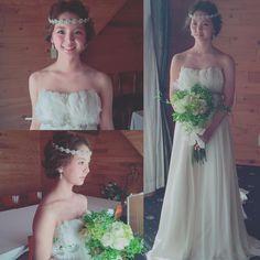 「* * wedding♡ * * #ヘアアレンジ #ウェディング #コーデ #マリhair」