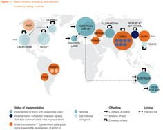 Map of emissions trading schemes