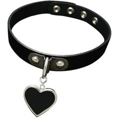 K-Craft Adult Collar Punk Goth Emo Genuine Leather Choker Necklace Heart