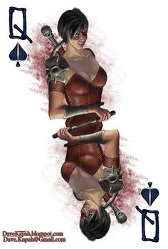 Playing Cards by David Kapah: The Queen of Spades Unique Playing Cards, Playing Cards Art, Custom Playing Cards, Bicycle Playing Cards, Joker Card Tattoo, Printable Playing Cards, Vintage Tarot Cards, Queen Of Spades, Taylor Kitsch