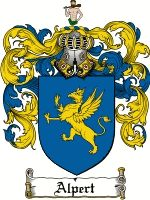 ALPERT Family Crest / ALPERT Coat of Arms  This French surname of ALPERT is a variant of the name Albert and was originally derived from a G...