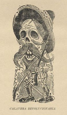 Jose Guadalupe Posada February 1852 - 20 January was a Mexican engraver and illustrator. Art And Illustration, Illustrations, Memento Mori, Day Of The Dead Art, Art Populaire, Danse Macabre, Chicano Art, Mexican Art, Skull And Crossbones
