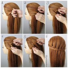 Dutch Fishtail Waterfall Braids Check Out The Steps Below Into 2 Equal Section A Small From Outside Of Left