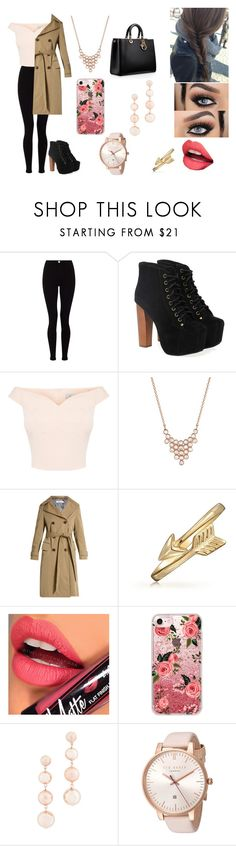 """""""#6"""" by bella-coronel ❤ liked on Polyvore featuring Lipsy, Jeffrey Campbell, Yannis Sergakis Adornments, Golden Goose, Bling Jewelry, Fiebiger, Casetify, Rebecca Minkoff and Ted Baker"""