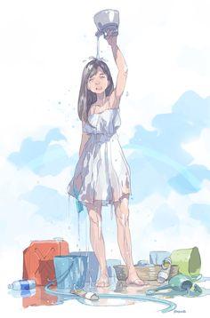 気化熱 #art #illustration #character #girl #manga #anime #pomodorosa