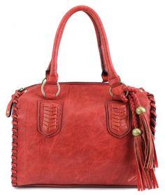 b6ee8d46cc95 Scarleton Vintage Top Zip Satchel H111310 - Red Scarleton http   www.amazon