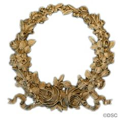 Rose Wreath Applique for Wood  4 1/4 in. W x 4 1/2 in. H 1052F