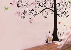 Super Big Tree Wall Decals Tree Wall Mural  Super by PopDecors