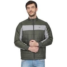 Buy Monte Carlo Men's Regular Fit Warm Up Jacket (220050223-3_Olive_38) at Amazon.in