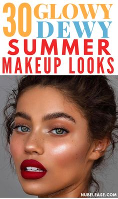 dewy wedding makeup 30 Glowy Dewy Summer Makeup Looks. The Best Makeup Looks to try this Summer. Summer makeup looks! Summer Eyeshadow, Colorful Eyeshadow, Eyeshadow Looks, Colorful Makeup, Eyeshadow Makeup, Lipstick Smudge, Summer Eye Makeup, Eyeshadows, Lipsticks