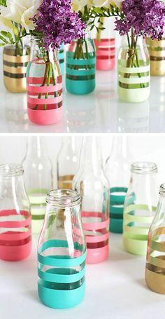 adornos con botellas de vidrio 5 - Vivir Creativamente