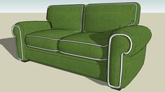 Large preview of 3D Model of Berm Sofa No.3