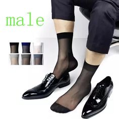 Cheap socks sheer, Buy Quality gay socks directly from China quality socks Suppliers: 2017 new Male ultra-thin Suit dress Sexy silk Socks Sheer Mens Formal Gay Socks Best quality Man stockings Transparent socks Silk Socks, Sheer Socks, Mesh Socks, Mens Tights, Lingerie For Men, Well Dressed Men, Sock Shoes, Leggings, Men Dress